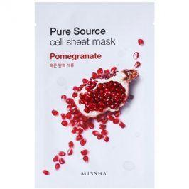 Missha Pure Source plátýnková maska se zpevňujícím účinkem Pomegranate 21 g