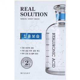 Missha Real Solution plátýnková maska s hydratačním účinkem  25 g