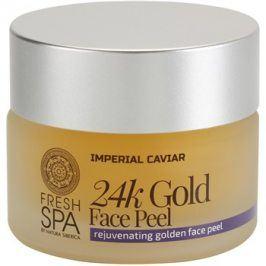 Natura Siberica Fresh Spa Imperial Caviar omlazující pleťový peeling s 24 karátovým zlatem  50 ml