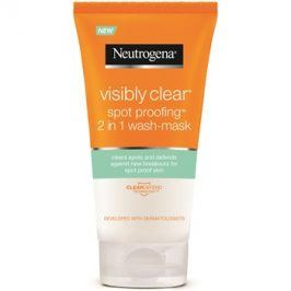 Neutrogena Visibly Clear Spot Proofing čisticí emulze a maska 2 v 1  150 ml