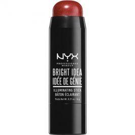 NYX Professional Makeup Bright Idea rozjasňovač v tyčince odstín 03 Brick Red Blaze 6 g