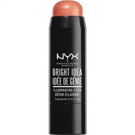 NYX Professional Makeup Bright Idea rozjasňovač v tyčince odstín 02 Coralicious 6 g