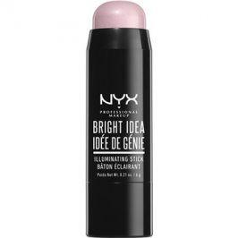 NYX Professional Makeup Bright Idea rozjasňovač v tyčince odstín Lavender Lust 06 6 g