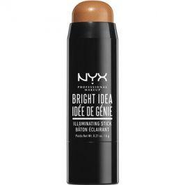 NYX Professional Makeup Bright Idea rozjasňovač v tyčince odstín Maui Suntan 10 6 g
