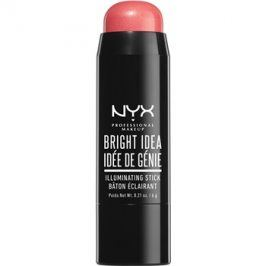 NYX Professional Makeup Bright Idea rozjasňovač v tyčince odstín 04 Rose Petal Pop 6 g