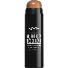 NYX Professional Makeup Bright Idea rozjasňovač v tyčince odstín Sandy Glow 11 6 g