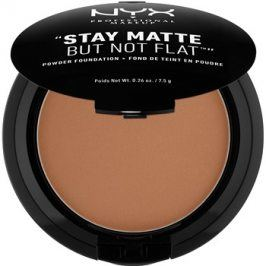 NYX Professional Makeup Stay Matte But Not Flat pudrový make-up odstín 19 Cocoa 7,5 g
