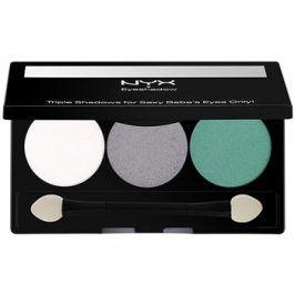 NYX Professional Makeup Triple paleta očních stínů odstín 16 Opal/Platinum Silver/Luster 2,1 g
