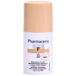 Pharmaceris F-Fluid Foundation intenzivně krycí make-up s dlouhotrvajícím efektem SPF 20 odstín 02 Sand  30 ml