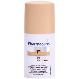 Pharmaceris F-Fluid Foundation intenzivně krycí make-up s dlouhotrvajícím efektem SPF 20 odstín 01 Ivory  30 ml