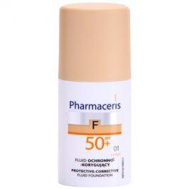 Pharmaceris F-Fluid Foundation ochranný krycí make-up SPF50+ odstín 01 Ivory  30 ml