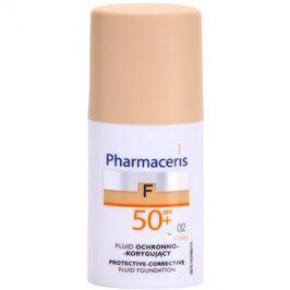 Pharmaceris F-Fluid Foundation ochranný krycí make-up SPF50+ odstín 02 Sand  30 ml