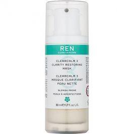 REN ClearCalm 3 rozjasňující maska pro problematickou pleť, akné  50 ml