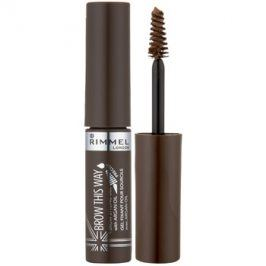 Rimmel Brow This Way gel pro úpravu obočí odstín 002 Medium Brown 5 ml