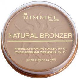 Rimmel Natural Bronzer voděodolný bronzující pudr SPF15 odstín 022 Sun Bronze 14 g