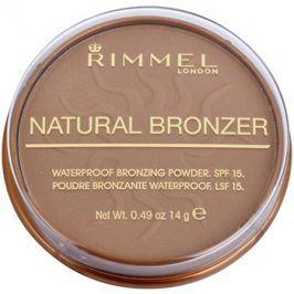 Rimmel Natural Bronzer voděodolný bronzující pudr SPF15 odstín 021 Sun Light 14 g
