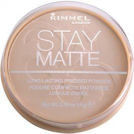 Rimmel Stay Matte pudr odstín 003 Peach Glow  14 g