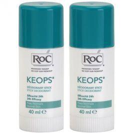RoC Keops tuhý deodorant 24h  2x40 ml