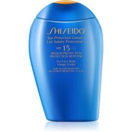 Shiseido Sun Protection opalovací mléko na obličej a tělo SPF15  150 ml