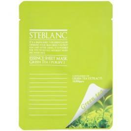 Steblanc Essence Sheet Mask Green Tea čisticí a zklidňující pleťová maska  20 g