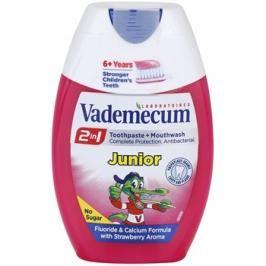 Vademecum 2 in1 Junior zubní pasta + ústní voda v jednom příchuť Strawberry 75 ml
