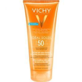Vichy Idéal Soleil ultratající mléčný gel pro vlhkou nebo suchou pokožku SPF50  200 ml