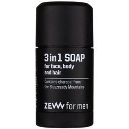 Zew For Men přírodní tuhé mýdlo na obličej, tělo a vlasy 3 v 1  85 ml