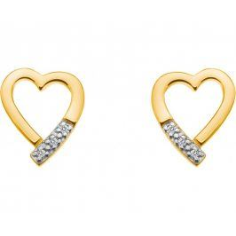 Hot Diamonds Stříbrné náušnice Just Add Love Memories Gold DE401