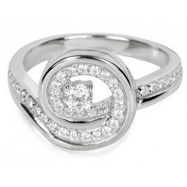 Silver Cat Stříbrný prsten s krystaly SC019 52 mm