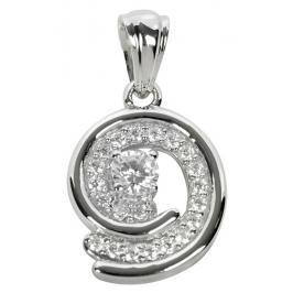 Silver Cat Stříbrný přívěsek s krystaly SC020