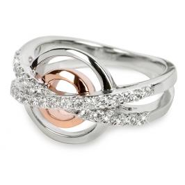 Silver Cat Stříbrný prsten s krystaly SC025 58 mm