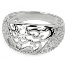Silver Cat Stříbrný prsten s krystaly SC043 60 mm