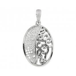 Silver Cat Stříbrný přívěsek s krystaly SC044