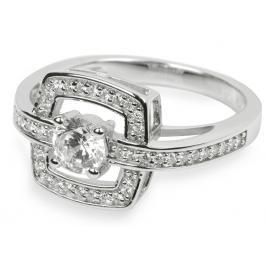 Silver Cat Stříbrný prsten s krystaly SC046 52 mm