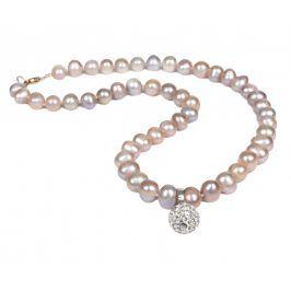 JwL Luxury Pearls Náhrdelník z pravých perel růžové barvy JL0082