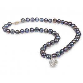 JwL Luxury Pearls Náhrdelník z pravých perel kovové barvy JL0083