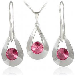 MHM Souprava šperků Karen 2 Light Rose 34235 (náušnice, řetízek, přívěsek)