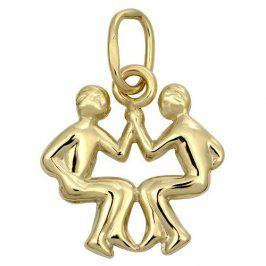 Brilio Zlatý přívěsek Blíženci 241 001 00812 - 0,35 g