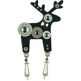 Deers Velký černý jelínek Grey