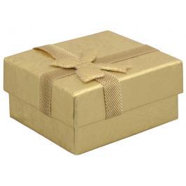 JK Box Dárková krabička na náušnice ve zlaté barvě RZ-1/AU