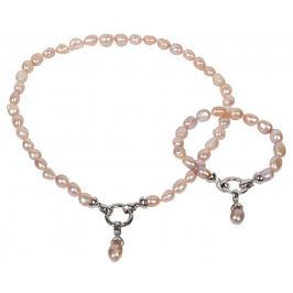 JwL Luxury Pearls Souprava z pravých růžových perel JL0130