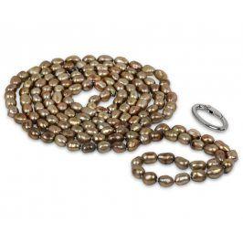 JwL Luxury Pearls Dlouhý náhrdelník z pravých zlatavých perel JL0141