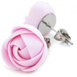 Troli Růžové náušnice puzetky kytičky
