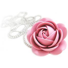 Troli Starorůžový náhrdelník kytička