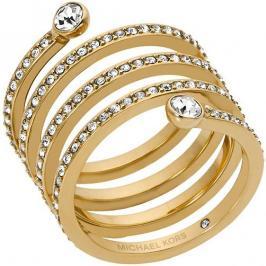 Michael Kors Pozlacený ocelový prsten s krystaly MKJ4722710 58 mm
