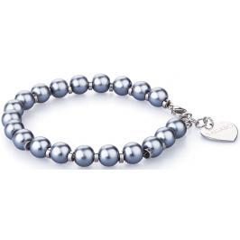 S`Agapõ Náramek s modrými perličkami Happy SHAC5