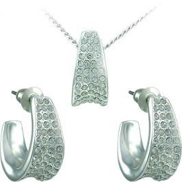 MHM Souprava šperků Leona Crystal 34106 (náušnice, řetízek, přívěsek)