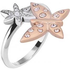 Morellato Ocelový bicolor prsten s motýlkem Natura SAHL06 52 mm