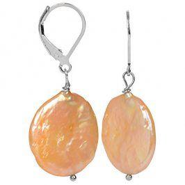 JwL Luxury Pearls Stříbrné náušnice s pravou zlatavou perlou JL0274