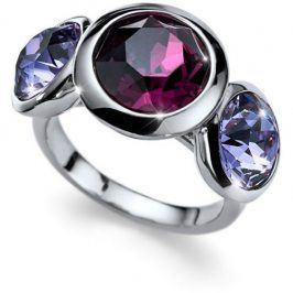 Oliver Weber Prsten s fialovými krystaly Working Every 41129 204 L (56 - 59 mm)